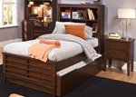 Chelsea Square Bookcase Bed 4 Piece Youth Bedroom Set in Burnished Tobacco Finish by Liberty Furniture - 628-BR11B
