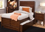 Chelsea Square Panel Bed 4 Piece Youth Bedroom Set in Burnished Tobacco Finish by Liberty Furniture - 628-BR11H