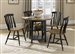 Al Fresco Drop Leaf Leg Table 5 Piece Dining Set in Driftwood & Black Finish by Liberty Furniture - 641-T4242