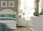 Stardust 4 Piece Youth Bedroom Set in Iridescent White Finish by Liberty Furniture - 710-YBR-TPBDMN