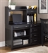 Hampton Bay Credenza & Hutch in Black Finish by Liberty Furniture - 717-HO121