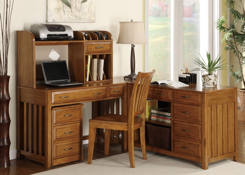 Hampton Bay 5 Pc Home Office Set In Oak Finish By Liberty Furniture 719 Ho