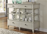 Harbor View Sideboard in Dove Gray Finish by Liberty Furniture - 731-SB5844