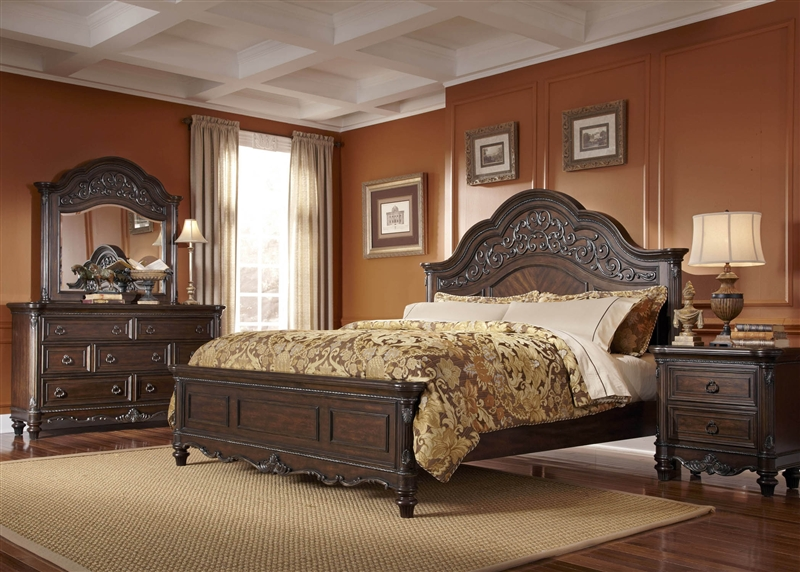 Piece Bedroom Set In Chestnut Finish By Liberty Furniture 755 BR