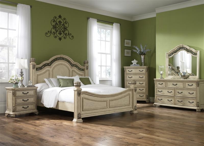 messina estates ii poster bed 6 piece bedroom set in