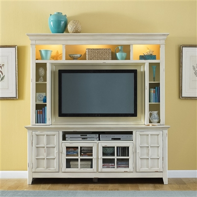 New Generation 50-Inch TV Entertainment Center in Vintage White Finish by Liberty Furniture - 840-ENT