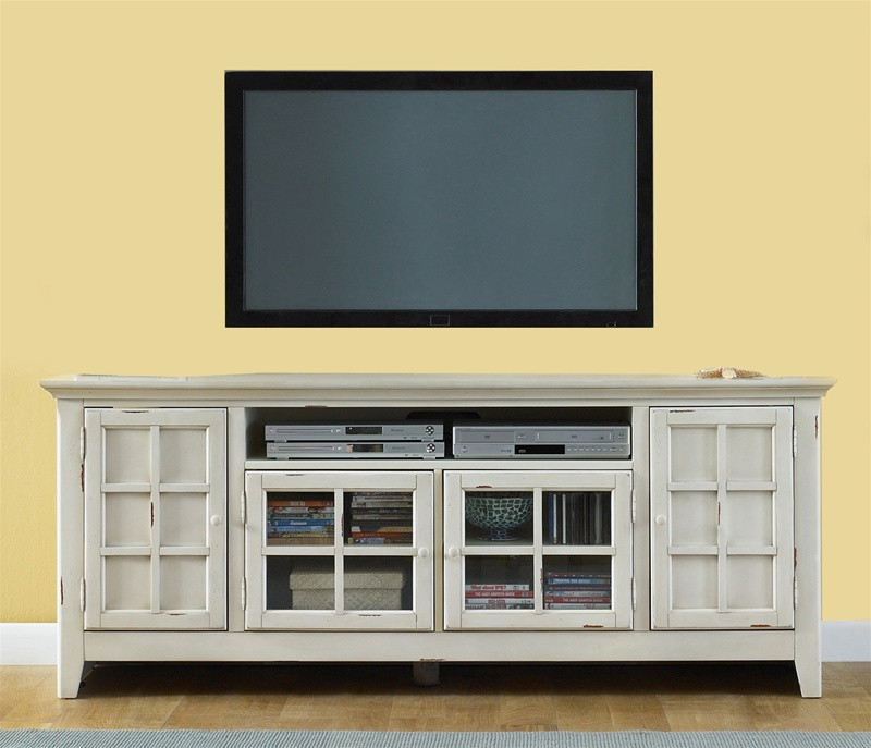 new generation 75 inch tv stand in vintage white finish by liberty furniture 840 tv00. Black Bedroom Furniture Sets. Home Design Ideas
