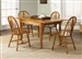 Country Haven Butterfly Leaf Leg Table 5 Piece Set in Spice Finish by Liberty Furniture - 85-T1576