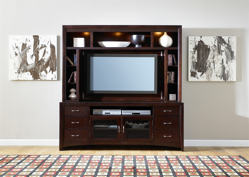 new generation 50 inch tv entertainment center in merlot finish by liberty furniture 940 ent. Black Bedroom Furniture Sets. Home Design Ideas