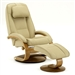 Oslo Bergen 2 Piece Swivel Recliner Cobblestone Leather & Walnut Finish by MAC Motion Chairs 52-C