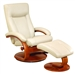 Oslo Hamar 2 Piece Swivel Recliner Cobblestone Leather & Walnut Finish by MAC Motion Chairs 54-C