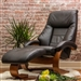 Oslo Mandal 2 Piece Swivel Recliner Espresso Leather / Walnut Finish by MAC Motion Chairs 58-E