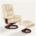 Oslo Casa 2 Piece Swivel Recliner Ice Leather & Merlot Finish by MAC Motion Chairs CASA-I
