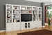 Boca 6 Piece TV Library Wall in Cottage White Finish by Parker House - BOC-401-6