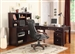 Boston 4 Piece Home Office Set in Merlot Finish by Parker House - BOS-347C-4