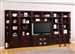 Boston 8 Piece TV Library Wall in Merlot Finish by Parker House - BOS-411-8