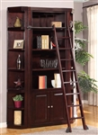 Boston 3 Piece Bookcase Library Wall in Merlot Finish by Parker House - BOS-450-3