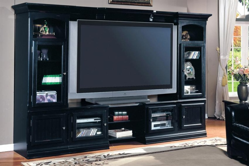 copper canyon 4 piece 48 72 inch tv x pandable entertainment wall in vintage black finish by. Black Bedroom Furniture Sets. Home Design Ideas