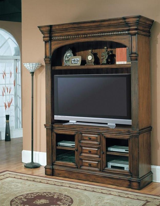 Genoa 60 Inch Tv 3pc Entertainment Center In Antique