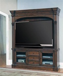 Genoa 66-Inch TV 3Pc Entertainment Center in Antique Vintage Dark Pecan Finish by Parker House - GEN-610-3EC