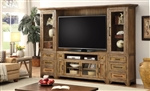 Hunts Point 4 Piece Entertainment Wall in Weathered Pine Finish by Parker House - HPT-100-4