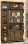 Meridien 3 Piece Bookcase Library Wall in Burnished Dark Ash Finish by Parker House - MER-440-03