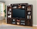Oslo 4 Piece Entertainment Wall in Coffee Finish by Parker House - OSL-101-4