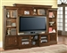 Afton 43-60-Inch TV 4 Piece Premier Wall Unit in Espresso Finish by Parker House - PAF-100-4X