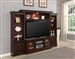 Afton 57-Inch TV 4 Piece Premier Wall Unit in Espresso Finish by Parker House - PAF-101-4