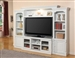 Alpine 57-Inch TV 4 Piece Premier Wall Unit in Cottage White Finish by Parker House - PAL-101-4