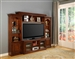 Athens 57-Inch TV 4 Piece Premier Wall Unit in Antique Light Vintage Chocolate Finish by Parker House - PAT-101-4