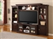 Auburn 57-Inch TV 4 Piece Premier Wall Unit in Merlot Finish by Parker House - PAU-101-4