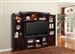Biscayne 60-Inch TV 4 Piece Premier Wall Unit in Merlot Finish by Parker House - PBI-101-4