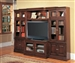 Sterling 4 Piece TV Library Wall in Espresso Finish by Parker House - STE-415-4