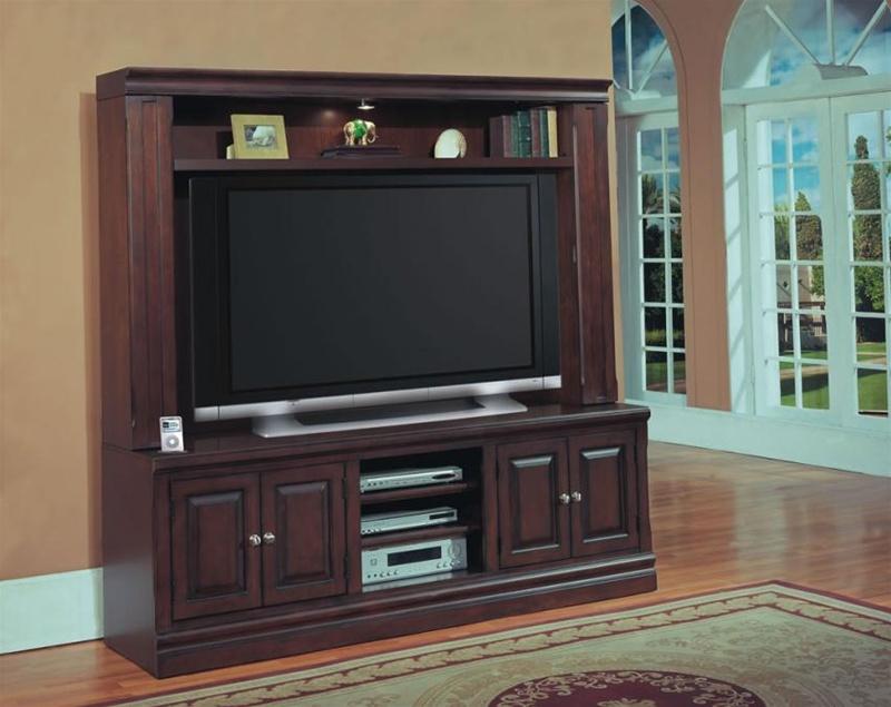 sterling vista 65 inch entertainment center in espresso finish by parker house ste815 ec. Black Bedroom Furniture Sets. Home Design Ideas