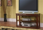 Genoa 50-Inch TV Console/Sofa Table in Antique Vintage Dark Pecan Finish by Parker House - TAB-37-07