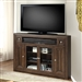 Tempo 62-Inch Corner TV Console in Burnished Dark Mocha Finish by Parker House - TEM-62CR