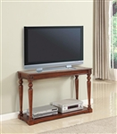 Athens 48-Inch TV Console/Sofa Table in Antique Light Vintage Chocolate Finish by Parker House - TPAT-07