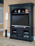 Venezia 60-Inch TV 3Pc Entertainment Center in Distressed Vintage Black Finish by Parker House - VEN-600-3EC