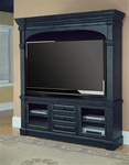 Venezia 66-Inch TV 3Pc Entertainment Center in Distressed Vintage Black Finish by Parker House - VEN-610-3EC