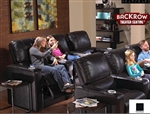 Barcelona Front & Back Row Theater Seating - 6 Leather Chairs By SeatCraft 809 & 810 - Power Recline