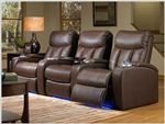 Verona Theater Seating - 3 Leather Chairs By SeatCraft 841 - Power Recline