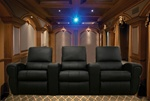 Brig Theater Seating - 3 Black Chairs By Theatre Delux - 695