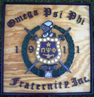 Purple on Gold Shield on Plaque