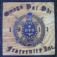 Crown Omega Shield on Plaque