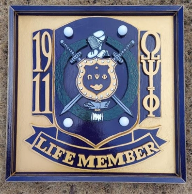 Omega Psi Phi Life Member Plaque