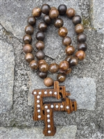 Oak Chapter Tiki Purple and Purple and Stained Beads
