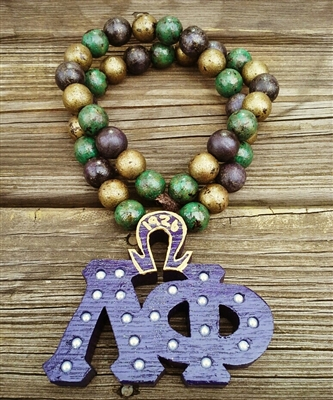 Purple Chapter Tiki with  Mardi Gras Beads