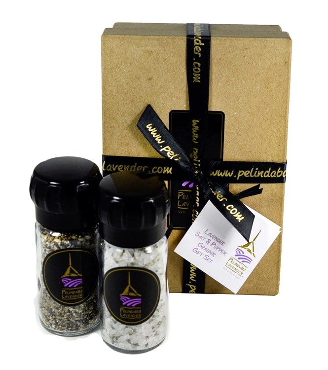 Lavender Salt & Pepper Grinder Gift Box