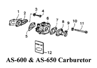 Aqua Scooter Gasket. Carb Front